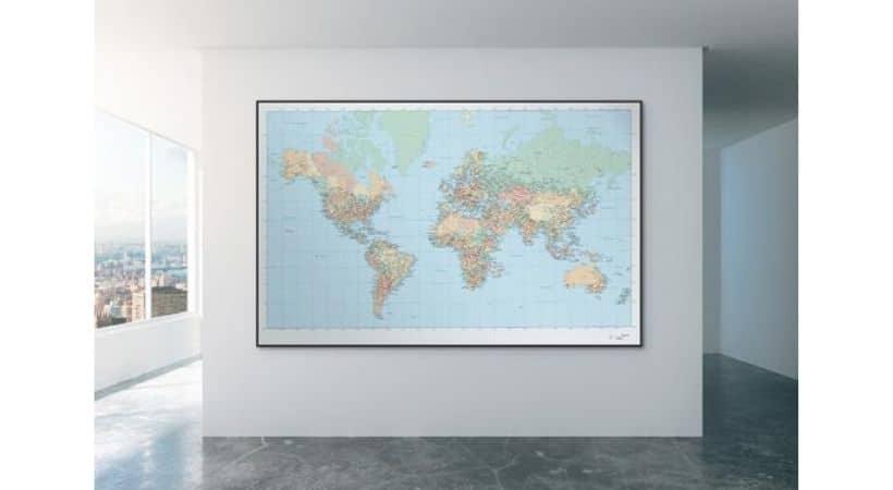 Tapet verdenskort - Med breddegrader