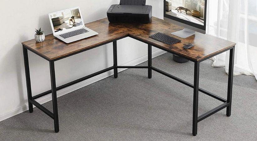 Billigt skrivebord til hjørne