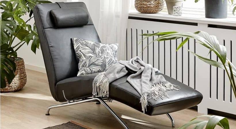 Chaiselong-lænestol - Læder