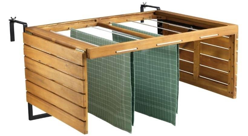 Sammenklappeligt altanbord & tørrestativ