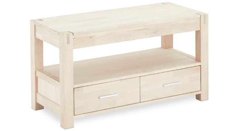 TV-bord i egetræ - Sæbebehandlet