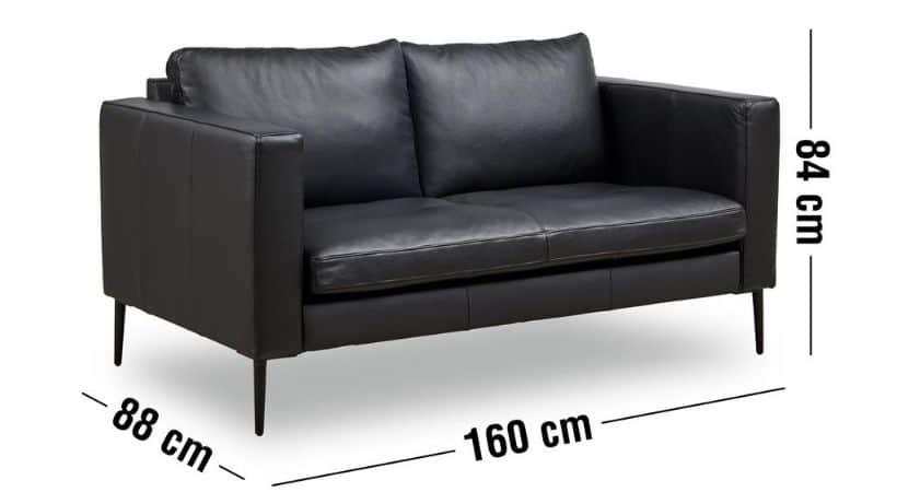 2 personers lædersofa