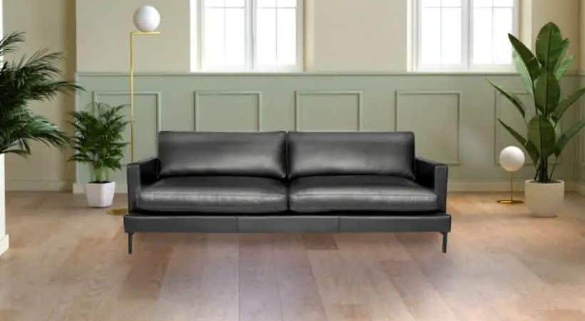 3-personers lædersofa - Lækker siddekomfort