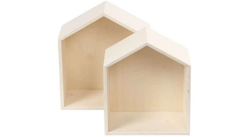 Billige bogkasser formet som hus
