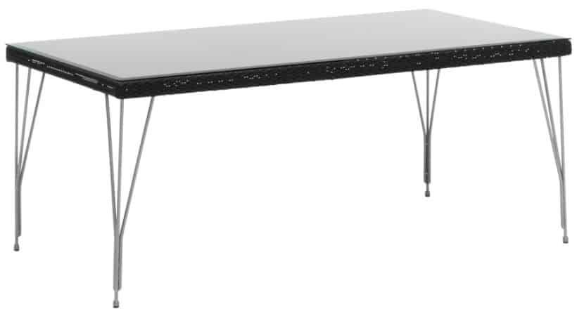 Havebord med glasplade