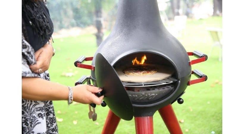 Havepejs med grill