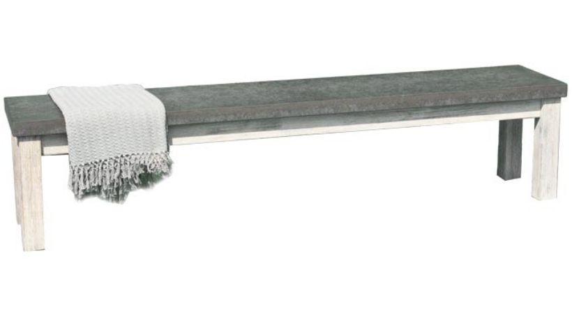 Betonbænk - Lang bænk i fiberbeton