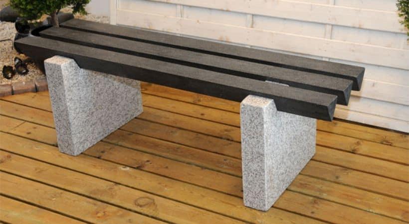 Granitbænk - Designer-bænk i grå granit