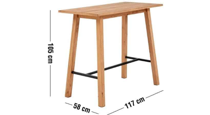 Højt og billigt barbord i træ