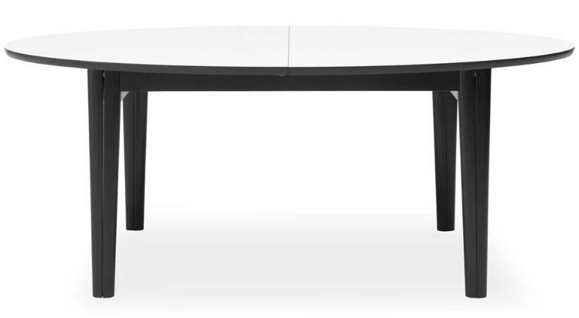 Ovalt spisebord med udtræk og plader