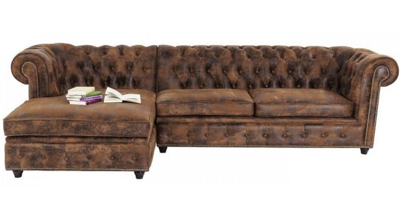 Retro hjørnesofa - Chesterfield