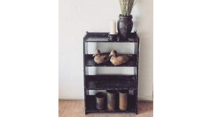 Rustik træreol - Antik vintage-stil