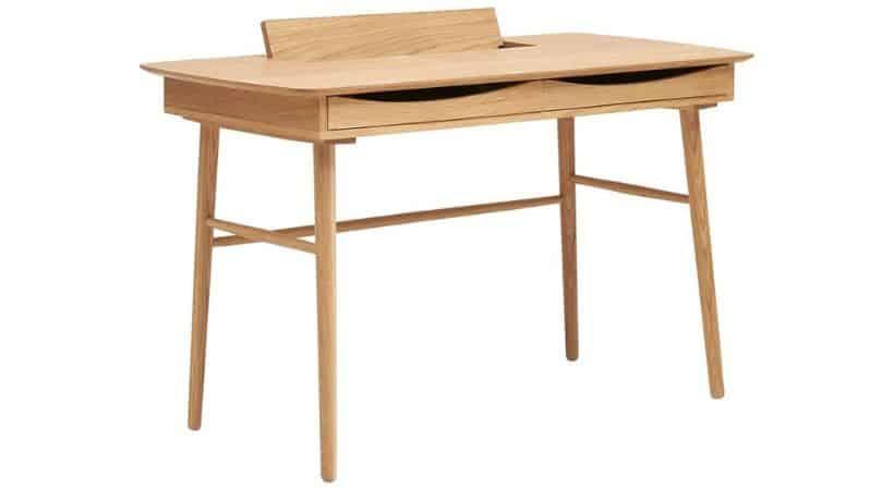 Skrivebord i lyst træ - Jersey