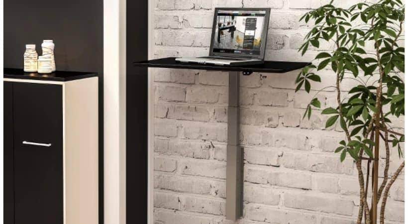 Væghængt skrivebord - Hæve-sænke
