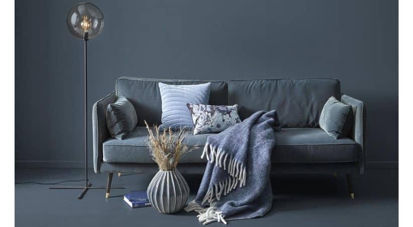 3-personers sofa i velour - Simply
