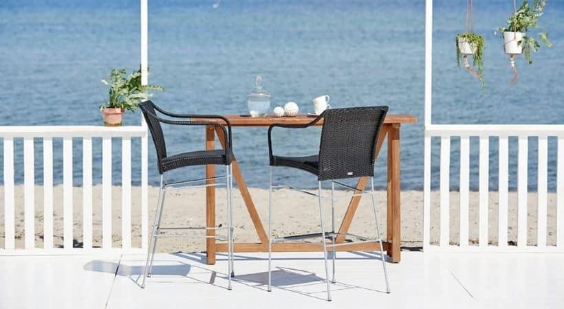 Barstol til udendørs brug