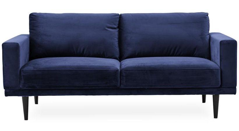 Blå velour-sofa - Mexico