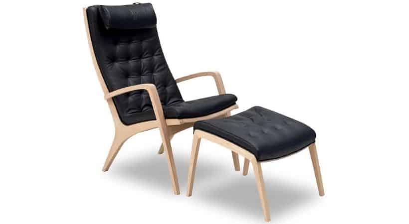 Dansk arkitekttegnet lænestol i egetræ - Berg