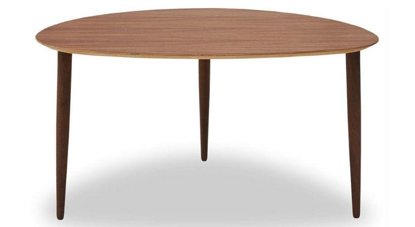 Dråbeformet sofabord i valnød - Woody
