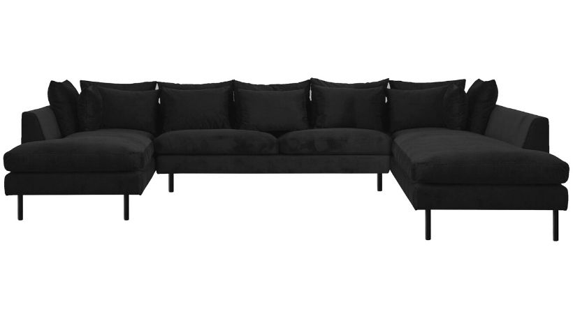 Flyder U-sofa i velour - Felicity
