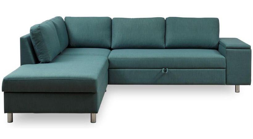 Grøn sovesofa med chaiselong