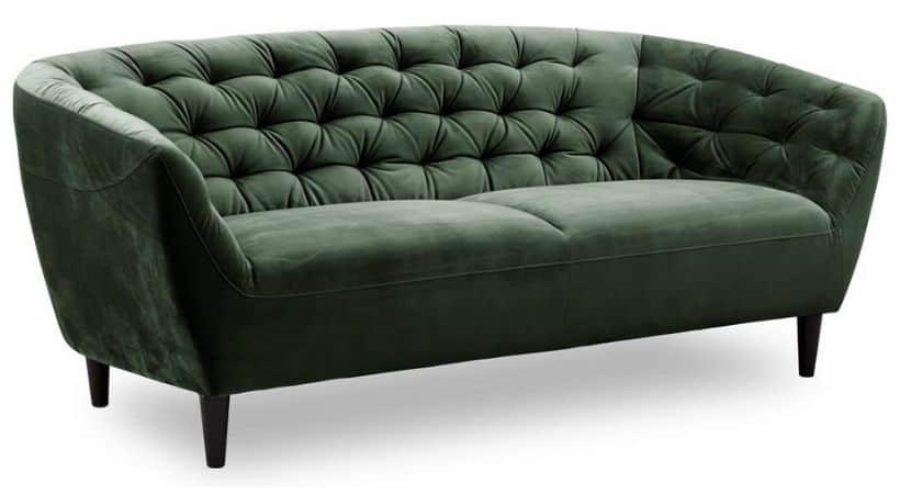 Grøn velour-sofa - Ria