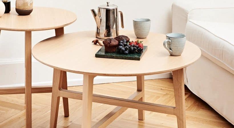 Højkvalitets sofabord i eg - Dansk design & dansk håndværk