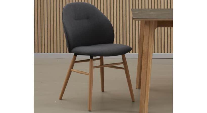 Køkkenstole med træben - Lakeret eg