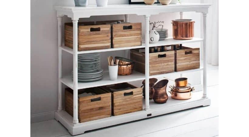 Konsolbord med kasser - Velegnet til køkken
