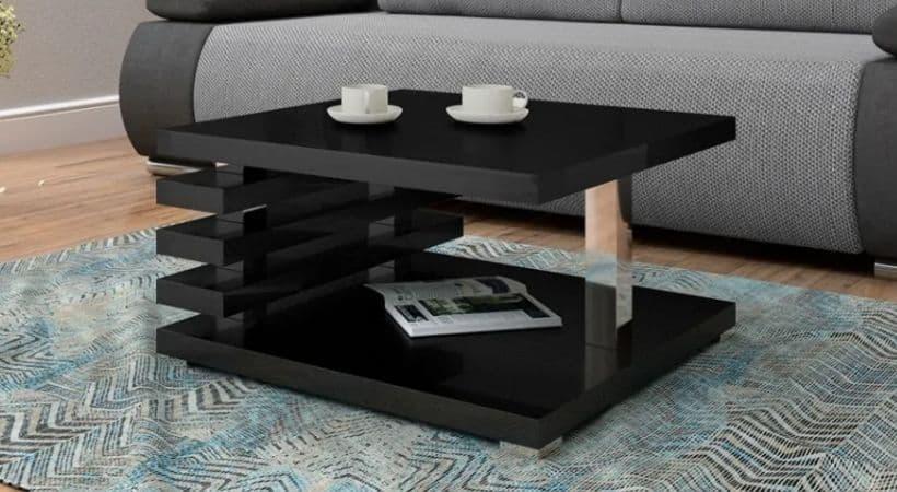 Kvadratisk sofabord med ribber - Komoso