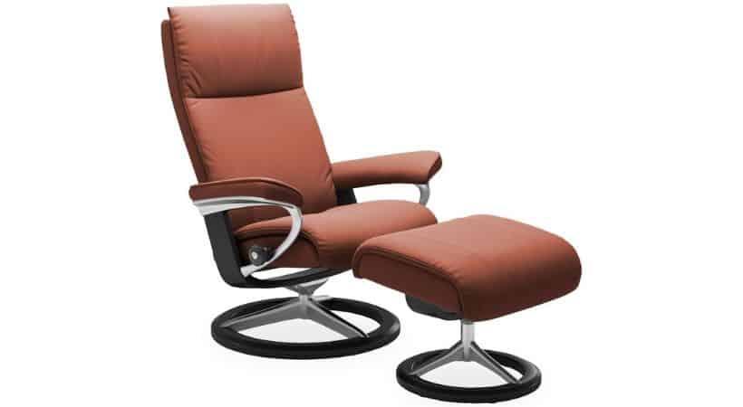 Lænestol i læder - Stressless læderlænestol