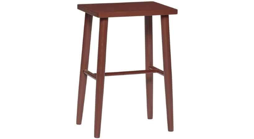 Lav rød barstol