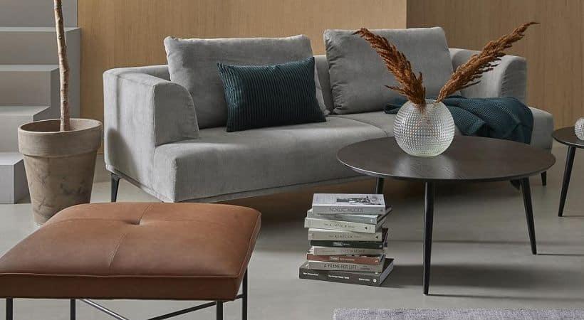 Lille og billigt rundt sofabord - Fano