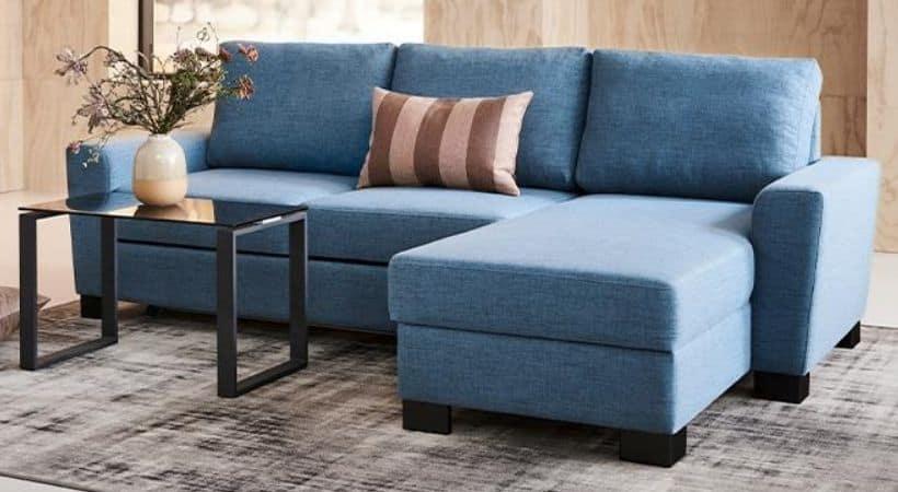 Lille sofa med chaiselong - 2 personer