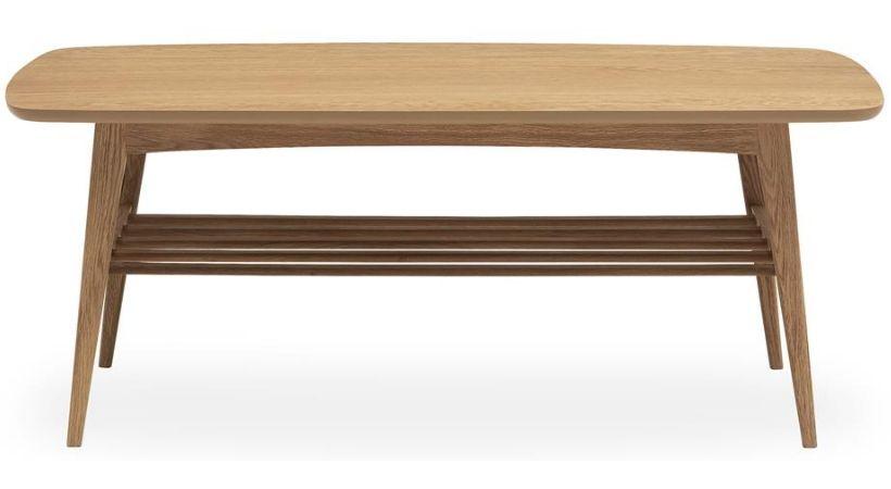 Moderne sofabord med hylde til opbevaring