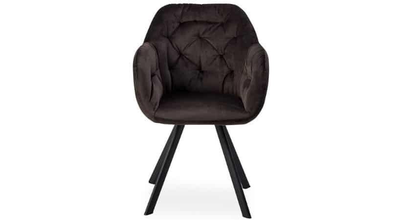 Polstrede spisebordsstole med armlæn