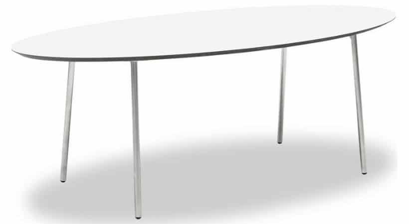 Sofabord med stålben (børstet stål)