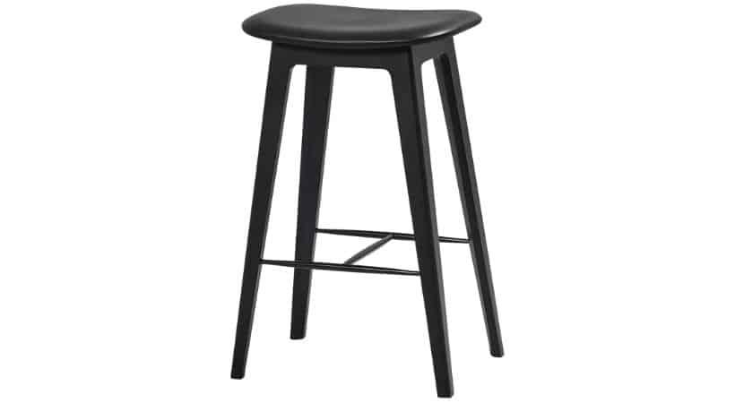 Sort Nordic barstol - Høj eller lav