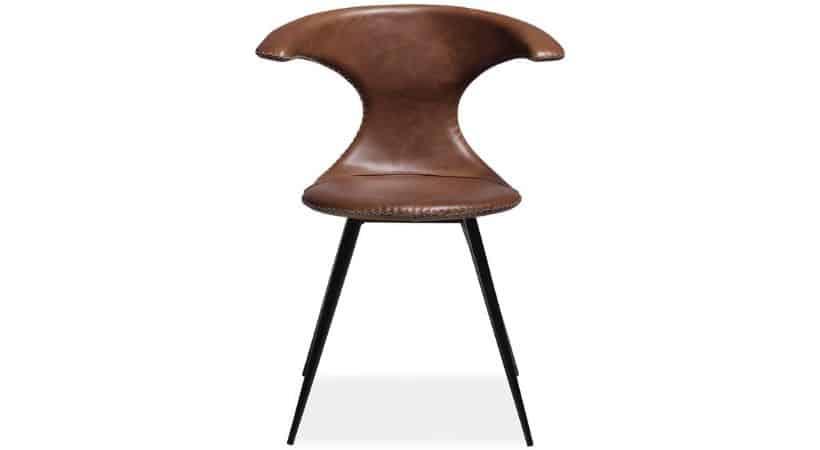 Spisebordsstole i brunt læder - Flaire