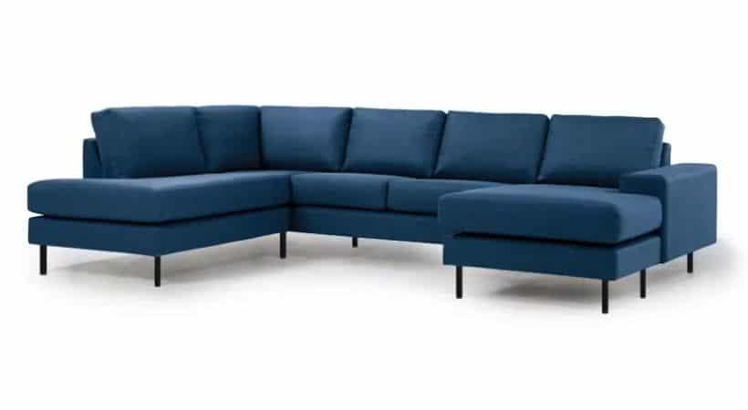 Stor chaiselong-sofa - Med både open-end og chaiselong