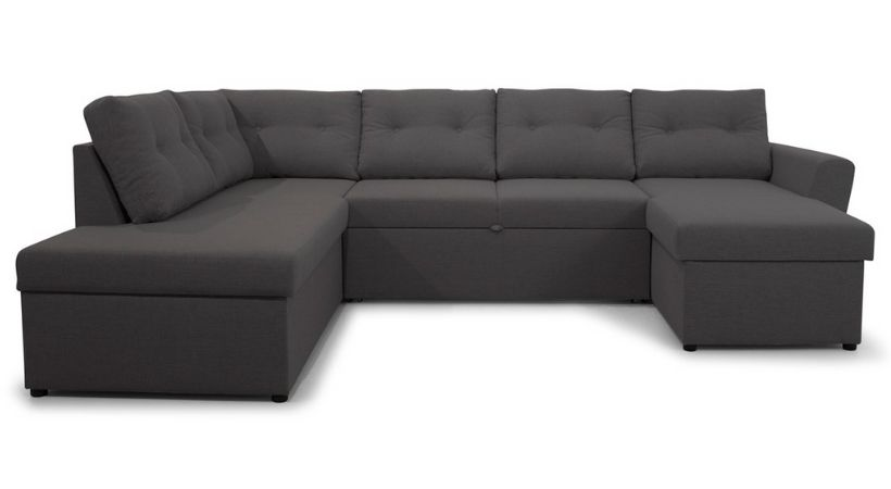 Stor sovesofa med chaiselong