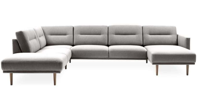U-sofa med chaiselong - Beige