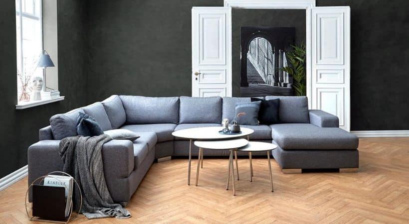Umbria u-sofa - Med mulighed for nakkestøtte