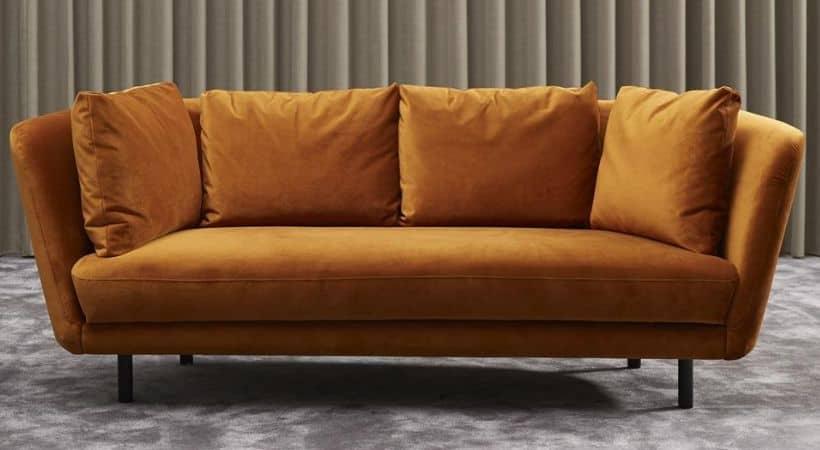 2½-personers sofa - Gul