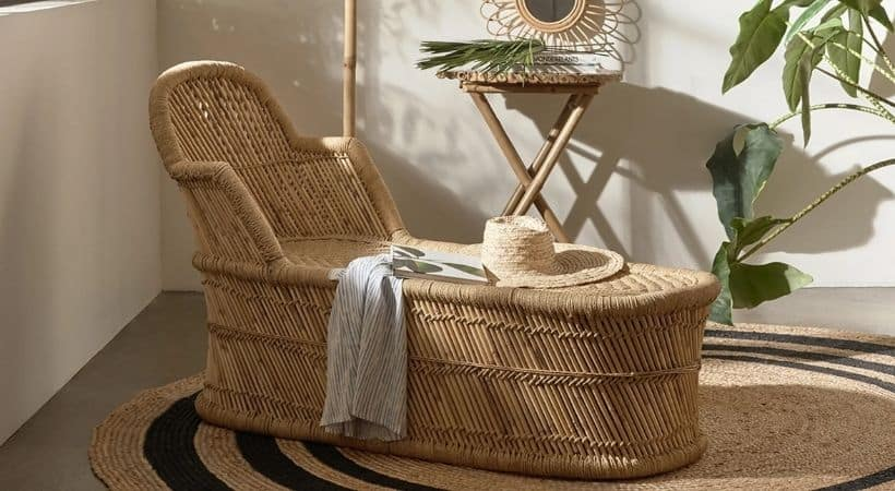 Bambus-daybed med ryg - Sofia