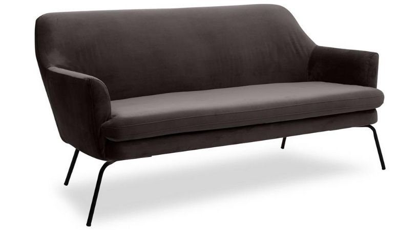 Billig lille velour-sofa