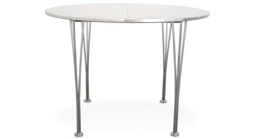Billigt spisebord med udtræk til plader