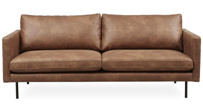 Cognac-farvet sofa
