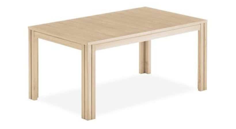 Massivt spisebord i sæbebehandlet eg - Skovby SM24