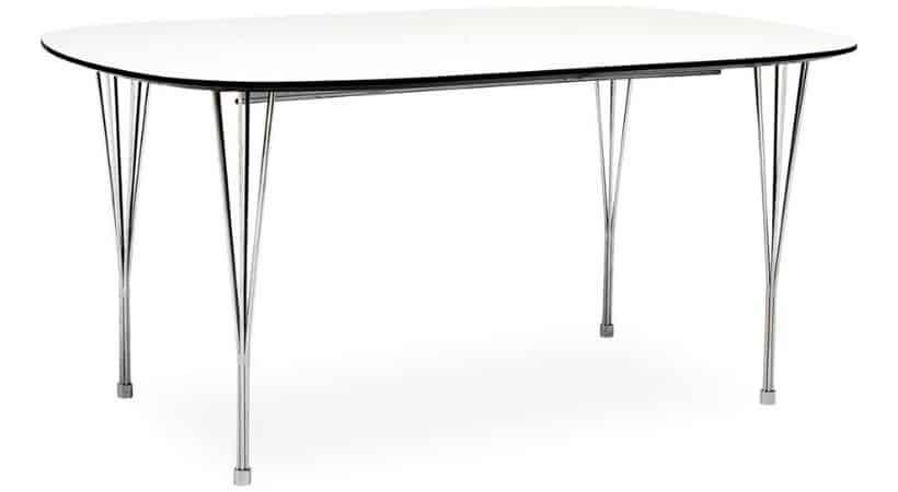 Ovalt spisebord med udtræk